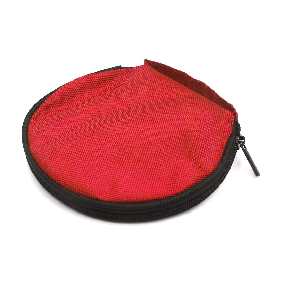 Red 20 Disc Car Auto CD Album Wallet Holder DJ Media Storage Case Bag