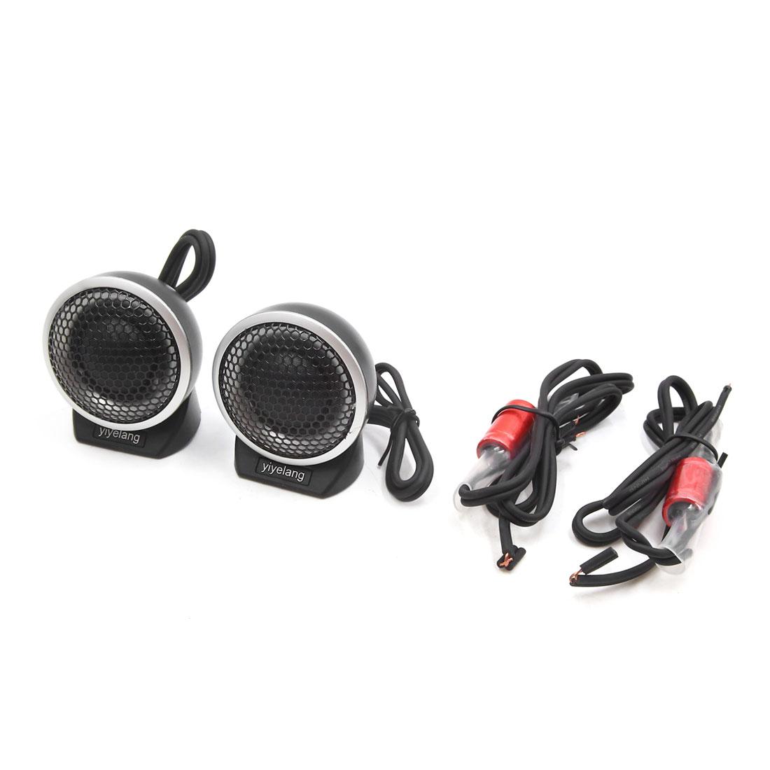 2pcs Universal Auto Car Audio System Speaker Dome Tweeters Mini Horn 92dB 150W
