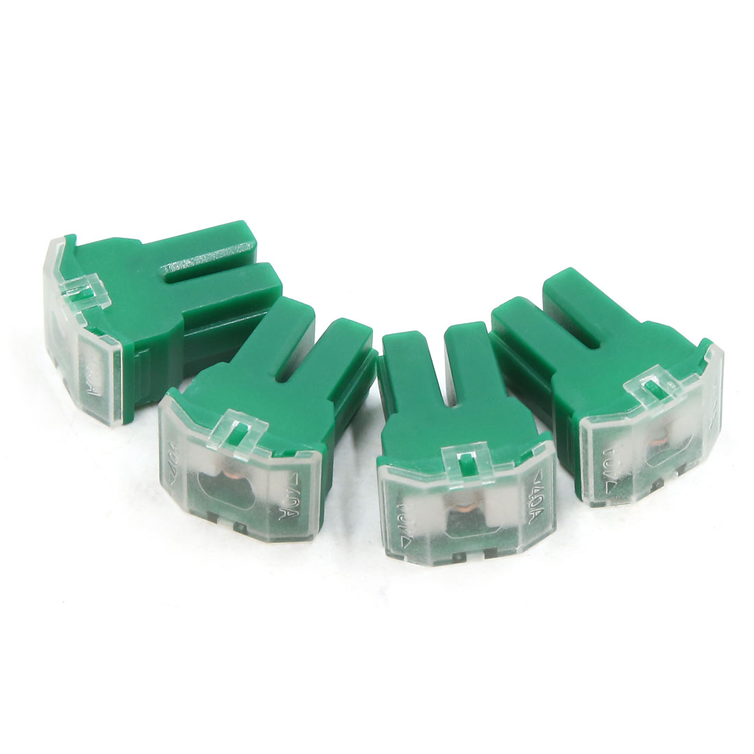 4pcs 40A Green Plastic Casing Female PAL Cartridge Fuse for Auto Car Vehicle
