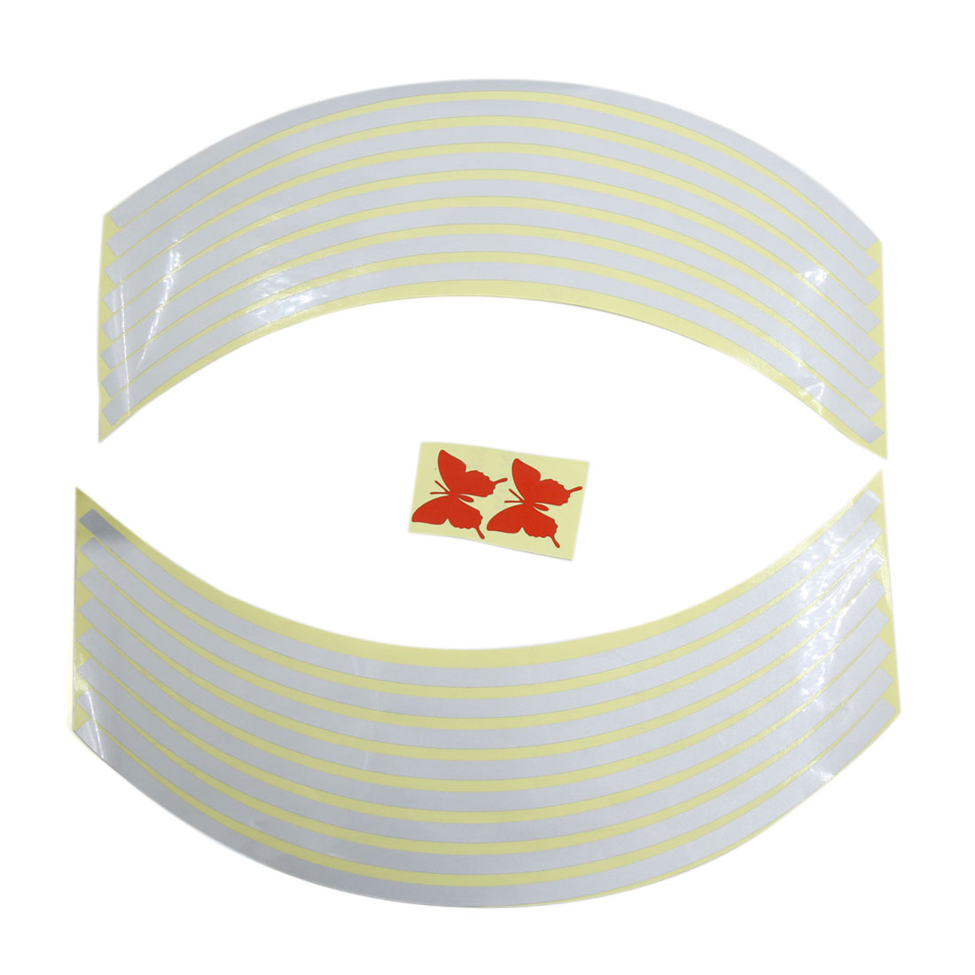 4pcs White Plastic Sticker Decal Decorative Adhesive Accessories for Car Vehicle