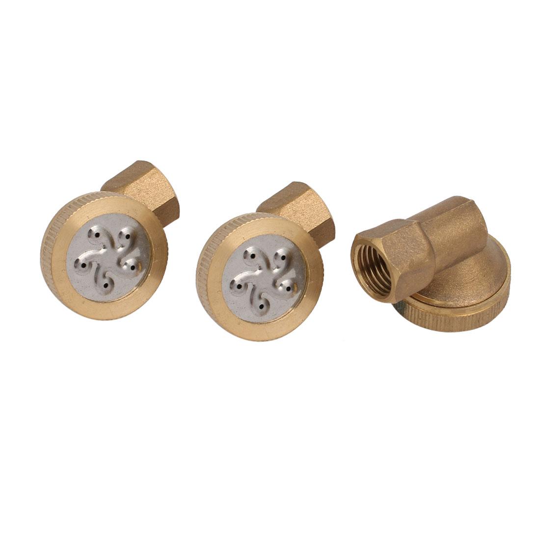 1/4BSP Female Thread 90 Degree 5-Hole Garden Sprinkler Misting Spray Nozzle 3pcs