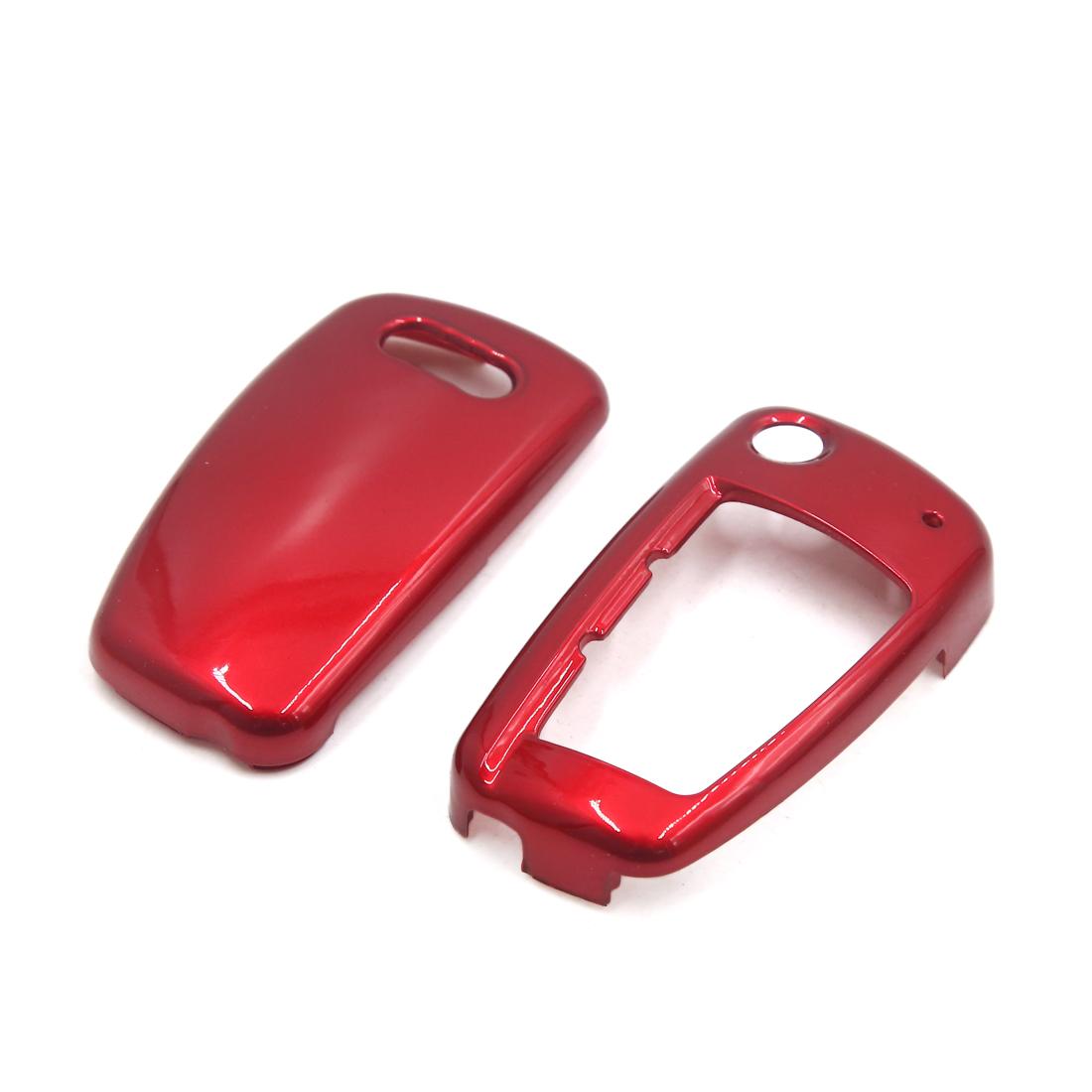 6.8 x 3.6 x 2.1cm Red Remote Key Case for Audi A3 A4 A4L A6 A6L Q3 Q5 Q7 TT R8