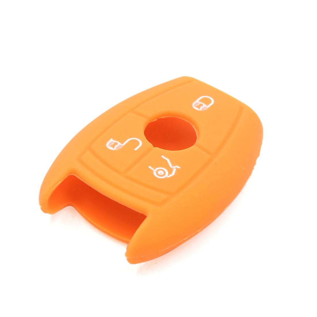 Orange Silicone 3 Buttons Remote Key Case for Mercedes-Benz Vito Class R GLA