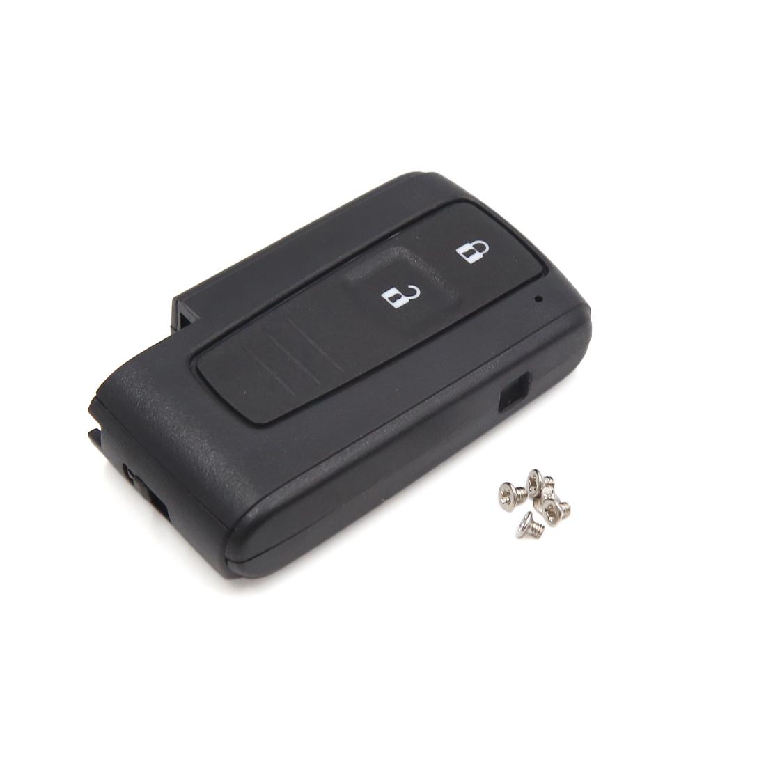 Black Plastic 2 Buttons Auto Car Remote Fob Clicker Case Shell for Toyota Prius
