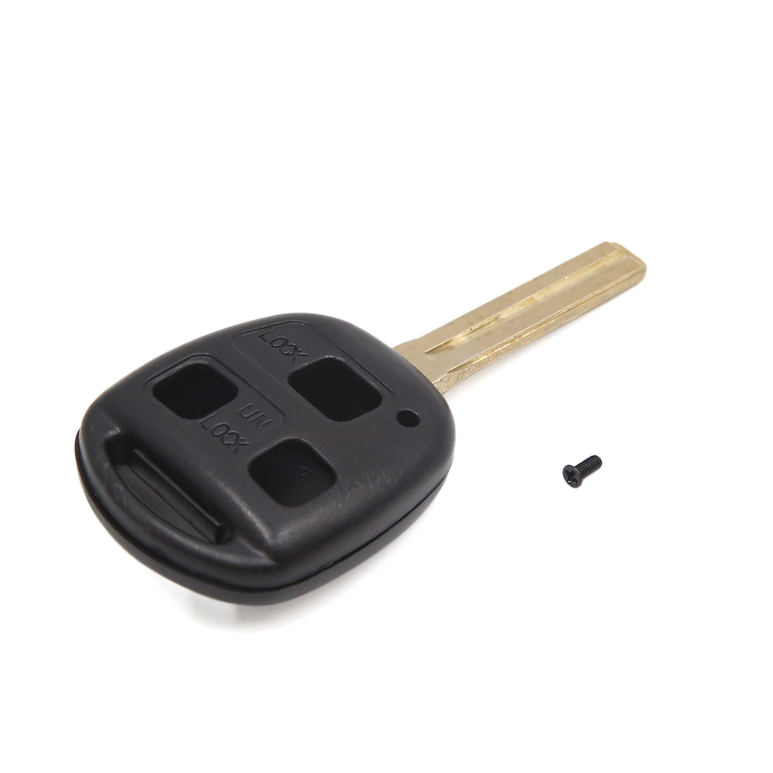 Black 3 Buttons Uncut Key Car Remote Control Case Fob Clicker Shell for Lexus