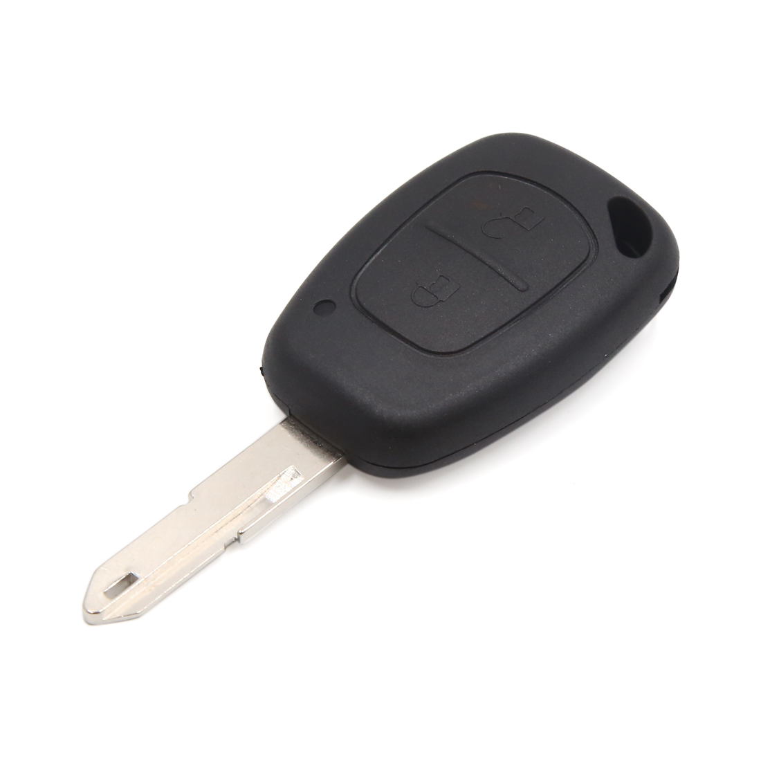 Black 2 Buttons Uncut Key Car Remote Fob Control Case Clicker Shell for Renault