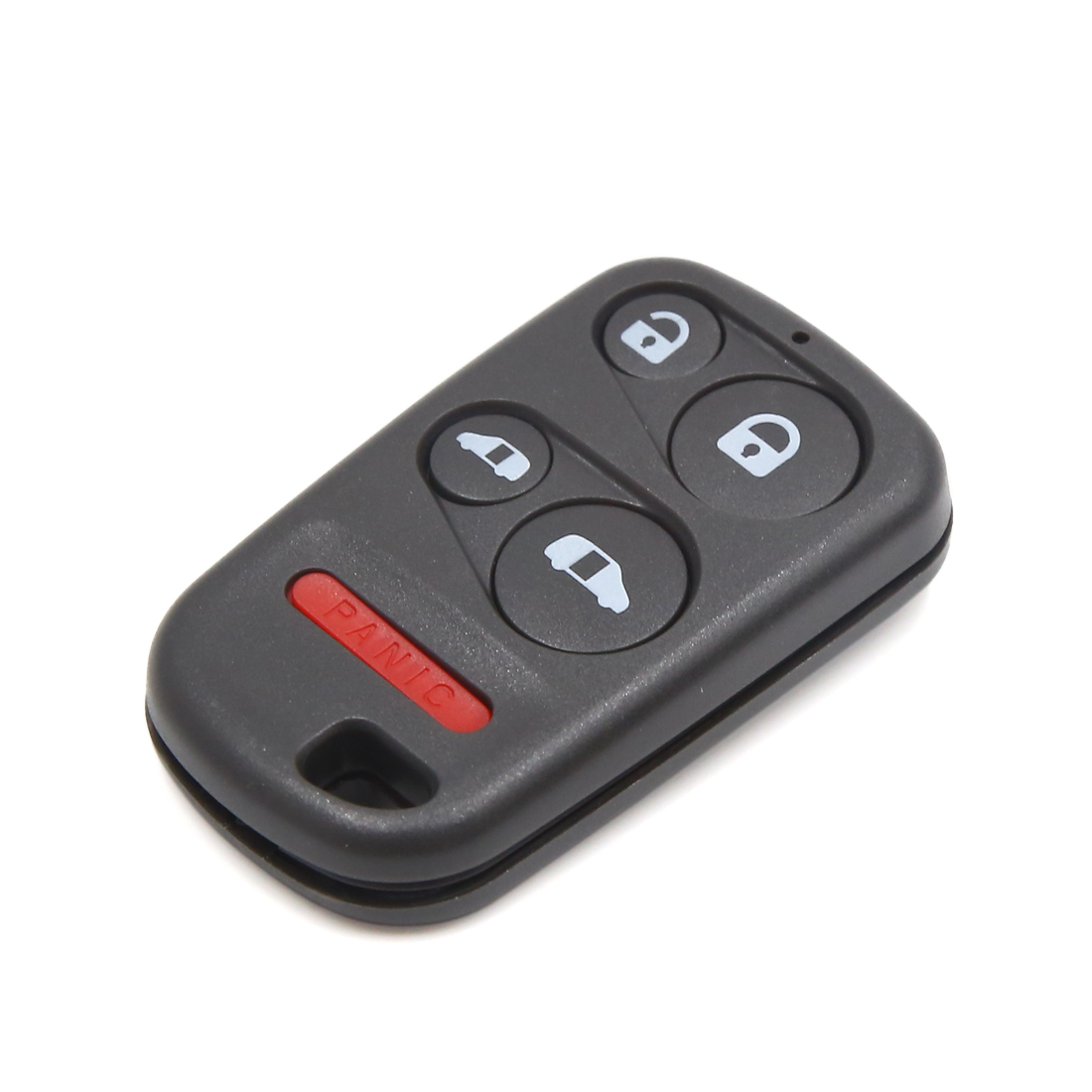 Black Plastic 5 Buttons Remote Fob Clicker Case Shell Replacement for Honda