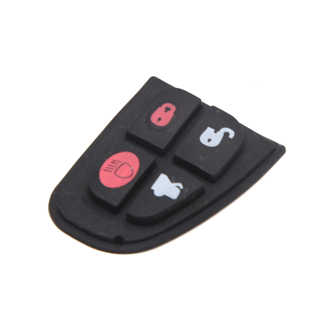 4 Buttons Car Remote Fob Case Insert Rubber Pad Keypad Replacement for Jaguar
