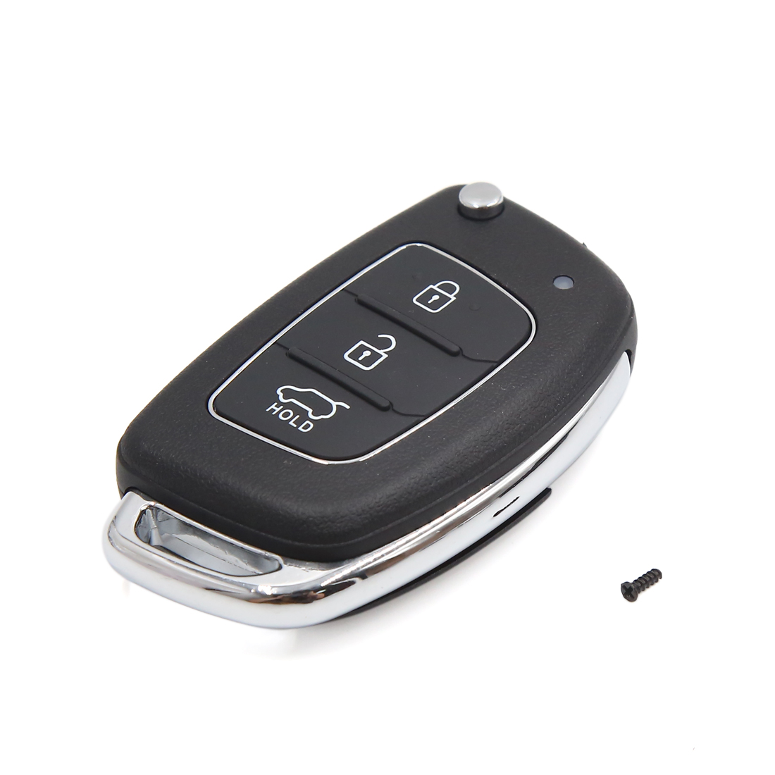 Plactic 3 Buttons Flip Folding Uncut Key Remote Fob Clicker Case for Hyundai