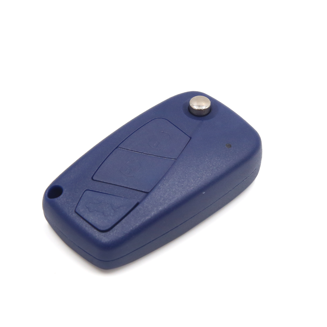 Blue 3 Buttons Flip Folding Uncut Key Remote Fob Clicker Case Shell for FIAT