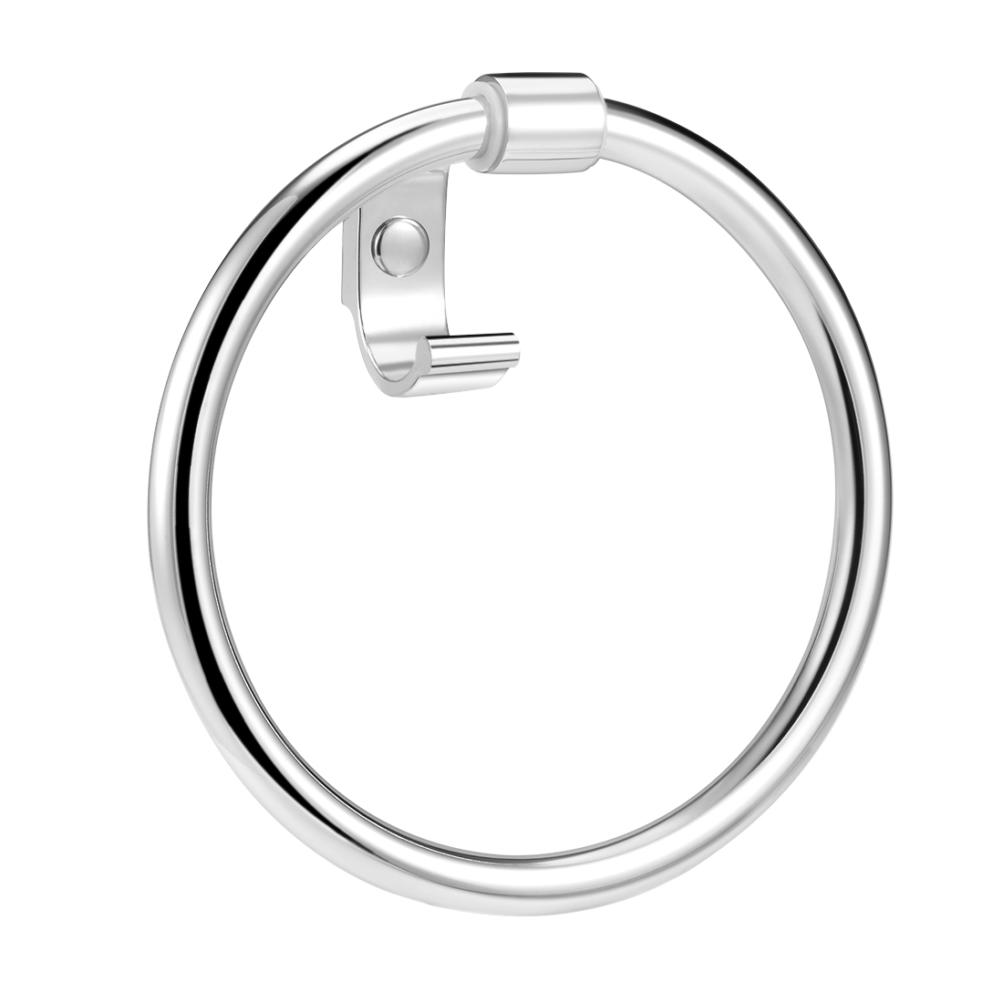 201 Stainless Steel Bathroom Towel Ring Chrome Plated w Hook