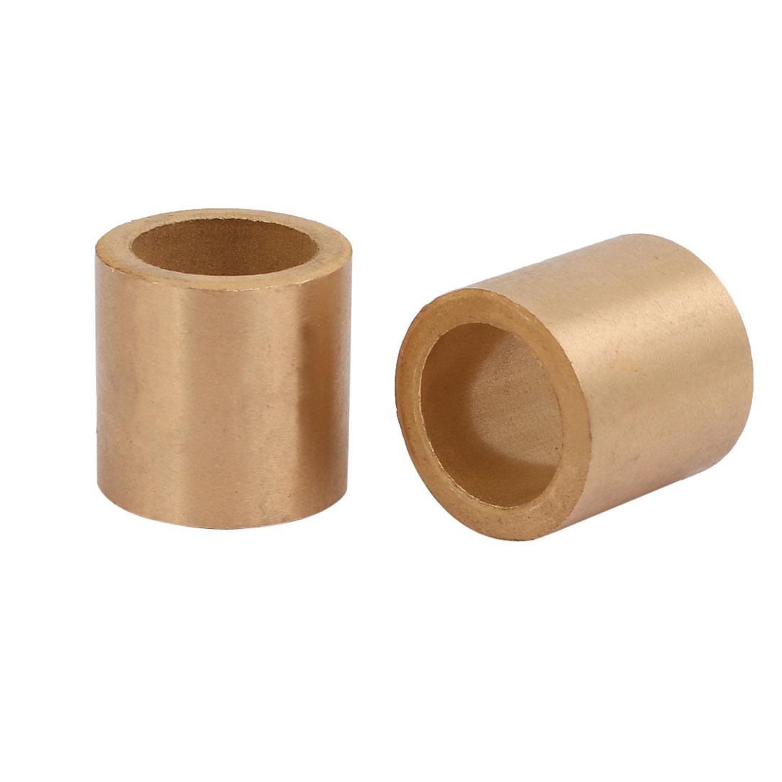 18mmx25mmx25mm Powdered Metal Bronze Sleeve Bearing Bushing 2pcs