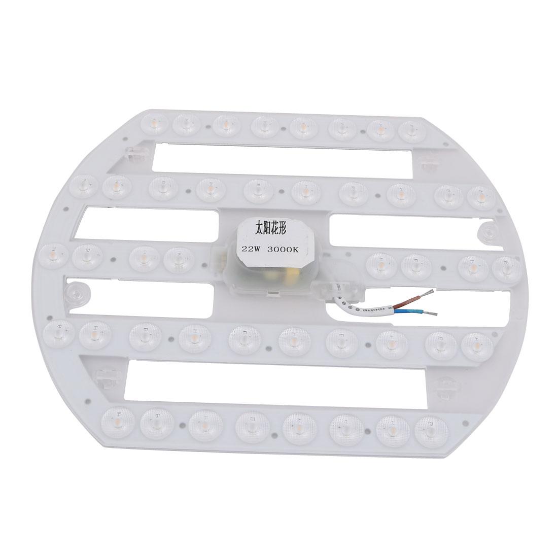 AC 185V-265V 22W LED Ceiling Optical Lens Module Light Board 44-LEDs 3000K