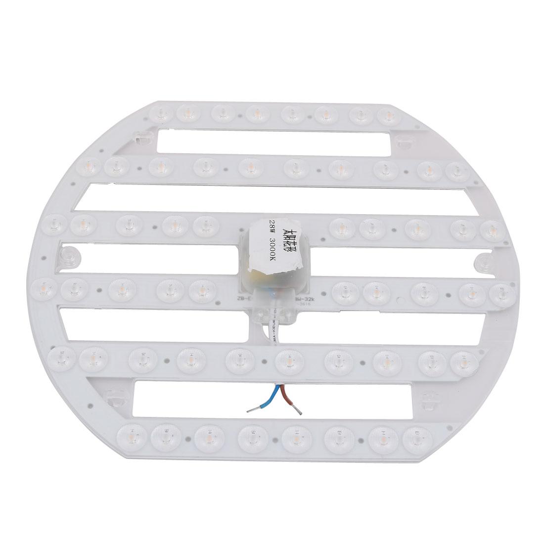 AC 185V-265V 28W LED Ceiling Optical Lens Module Light Board 56-LEDs 3000K