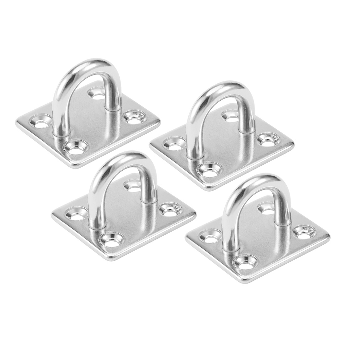 304 Stainless Steel 6mm Thick Ring Square Sail Shade Pad Eye Plate 4pcs