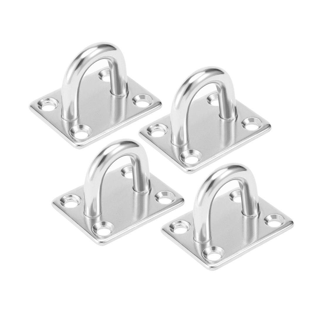 316 Stainless Steel 8mm Thick Ring Square Sail Shade Pad Eye Plate 4pcs
