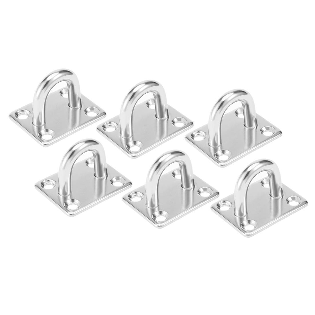 316 Stainless Steel 8mm Thick Ring Square Sail Shade Pad Eye Plate 6pcs