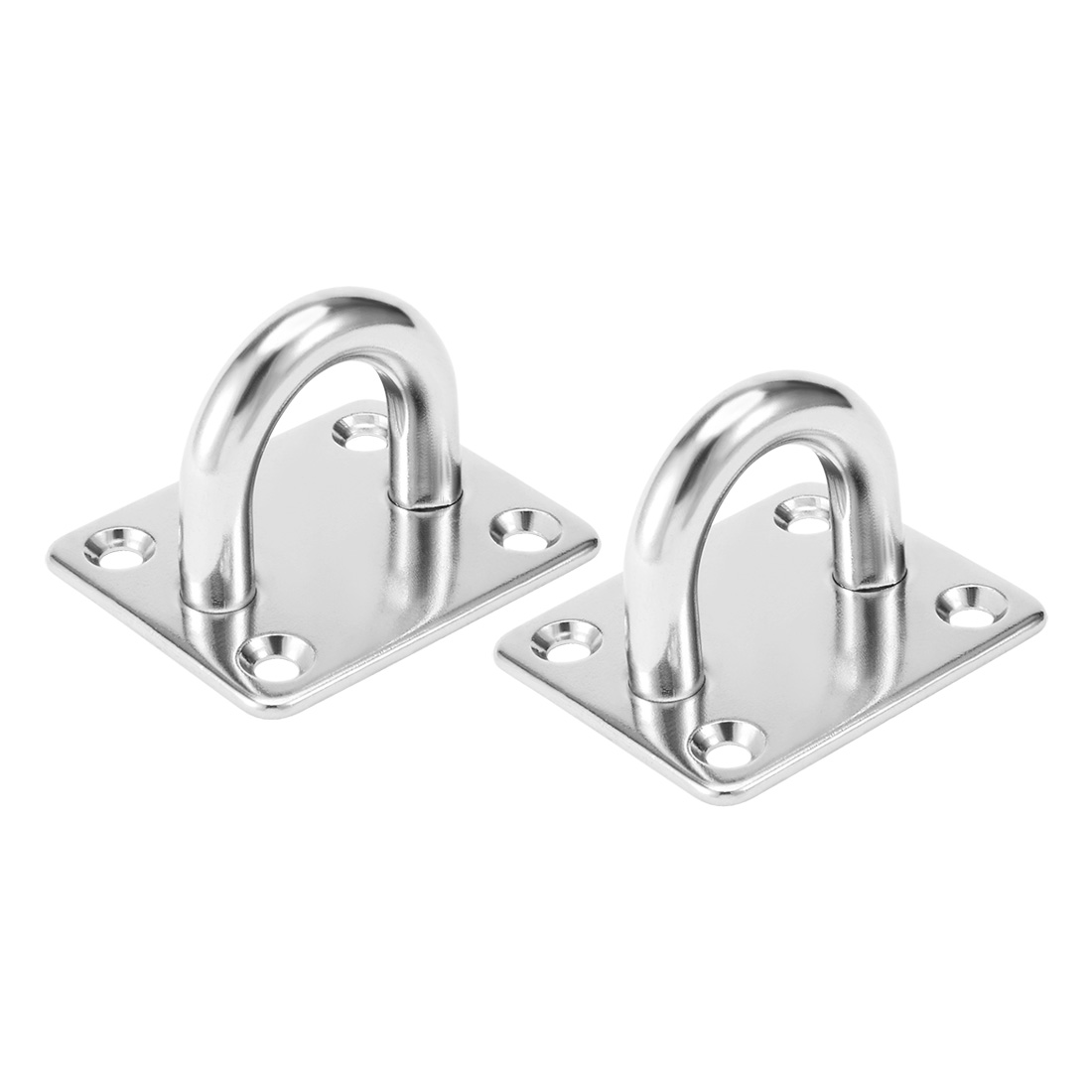 316 Stainless Steel 10mm Thick Ring Square Sail Shade Pad Eye Plate 2pcs
