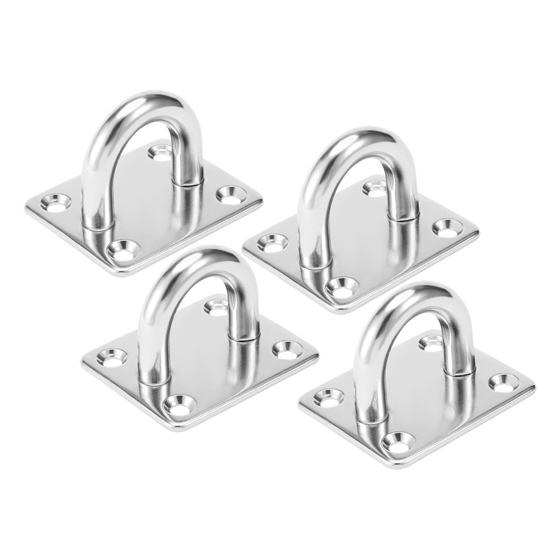 316 Stainless Steel 10mm Thick Ring Square Sail Shade Pad Eye Plate 4pcs