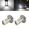 2 Pcs H7 White 2835 SMD 66 LEDs Car Fog Driving Daytime Running Light Lamp Bulb 6500K 10-24V 33W
