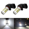 2 Pcs 9005 HB3 White 2835 SMD 66 LEDs Car Fog Driving Daytime Running Light Lamp Bulb 6500K 10-24V 33W