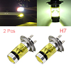 2 Pcs H7 12V 100W High Power 20 Yellow LED Projector Fog Driving Daytime Running Light Bulb for Car
