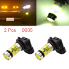 2 Pcs 9006 HB4 9012 12V 100W High Power 20 Yellow LED Projector Fog Driving Daytime Running Light Bulb for Car