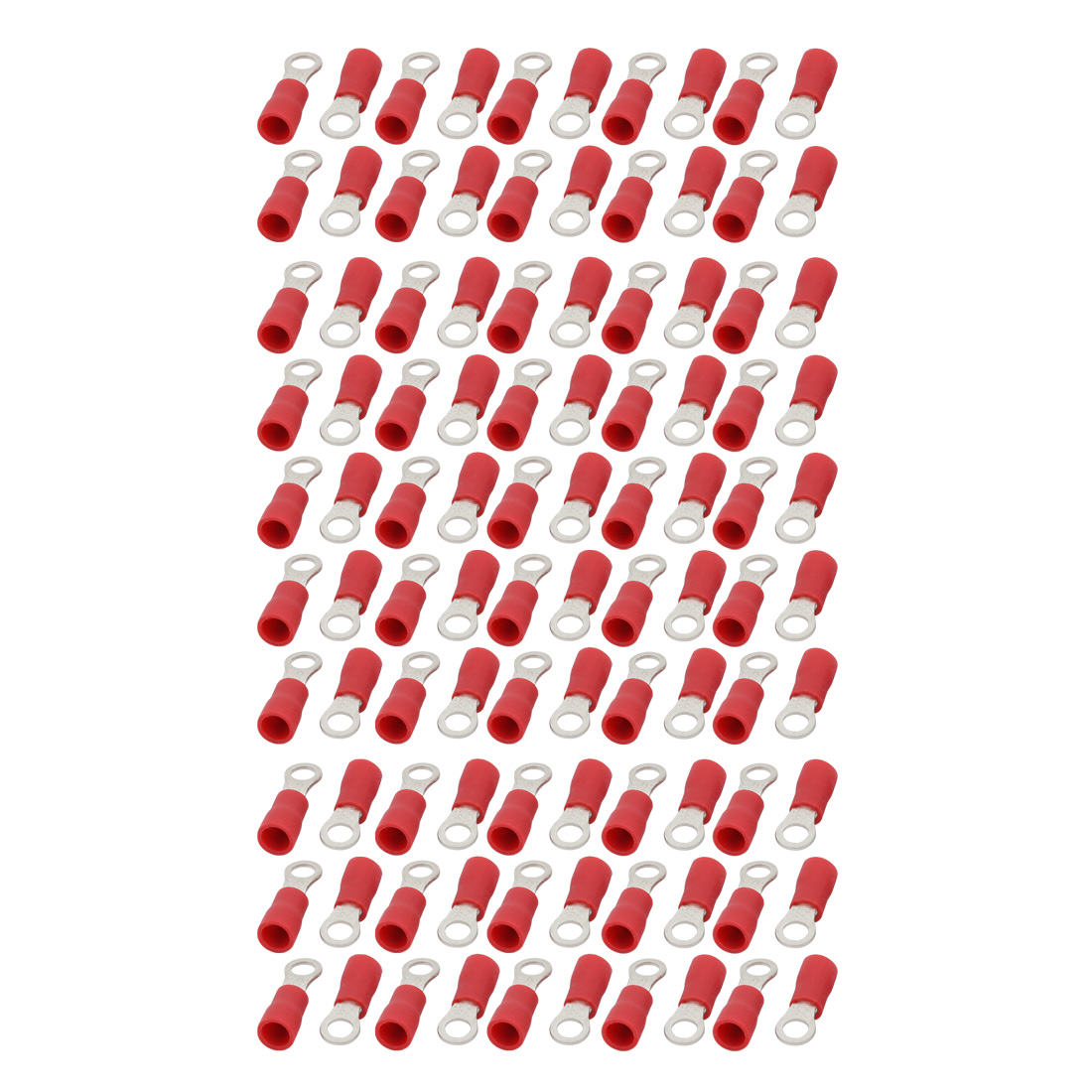 100pcs RV2-4S Pre Insulated Ring Crimp Terminal Connector Red for AWG 16-14 Wire