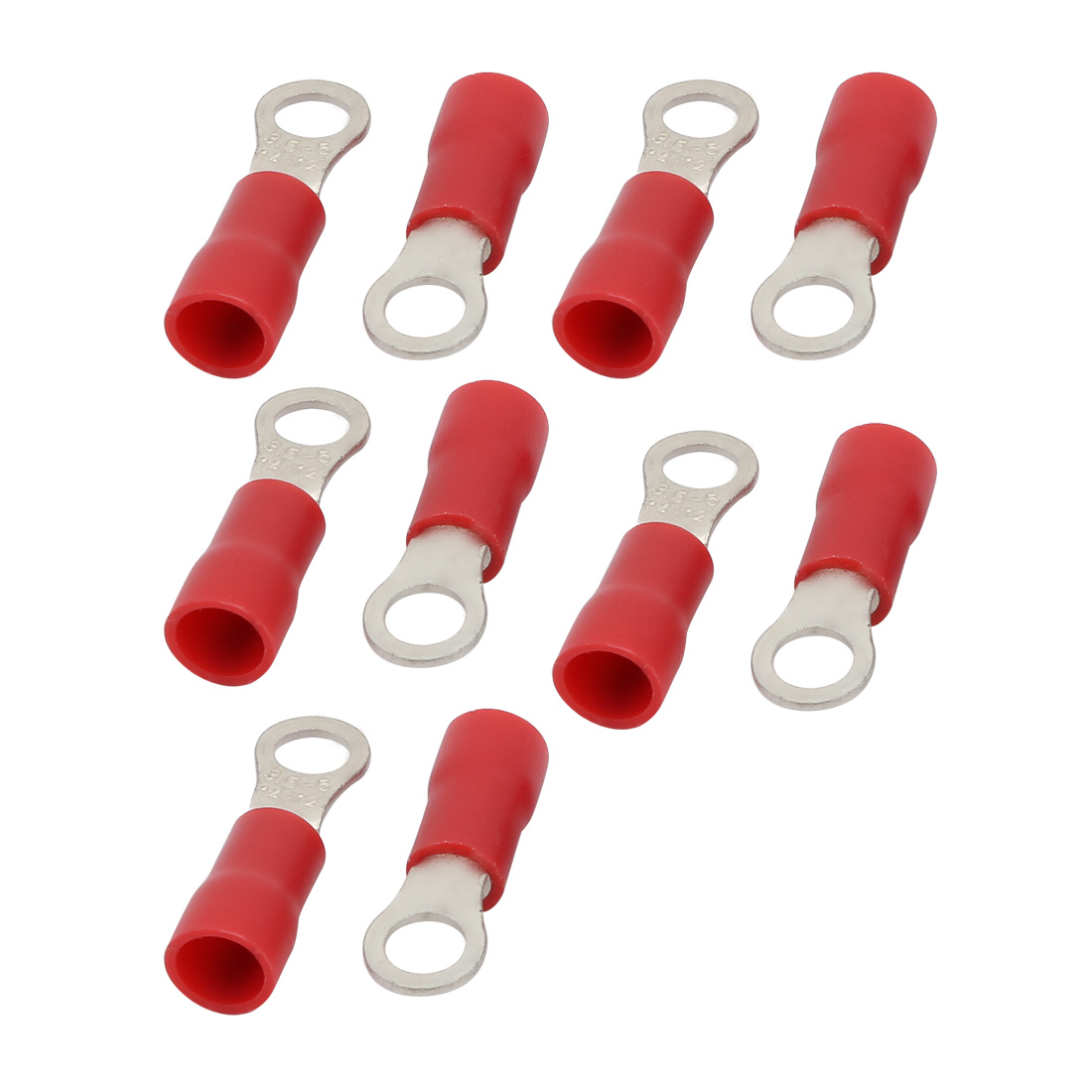 20pcs RV3.5-5 Pre Insulated Ring Crimp Terminal Connector Red for AWG 14-12 Wire