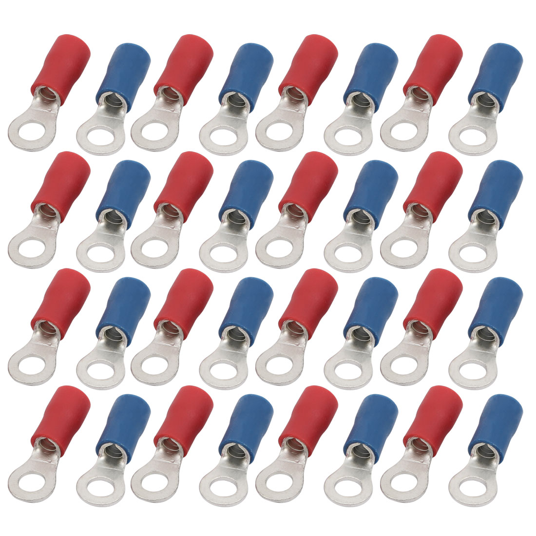 40pcs RV5.5-5 Pre Insulated Ring Crimp Terminal Red Blue for AWG 12-10 Wire