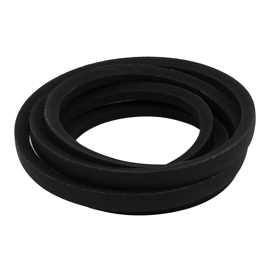 B2650 17mm Wide 11mm Thick Rubber Transmission Drive Belt V-Belt Black