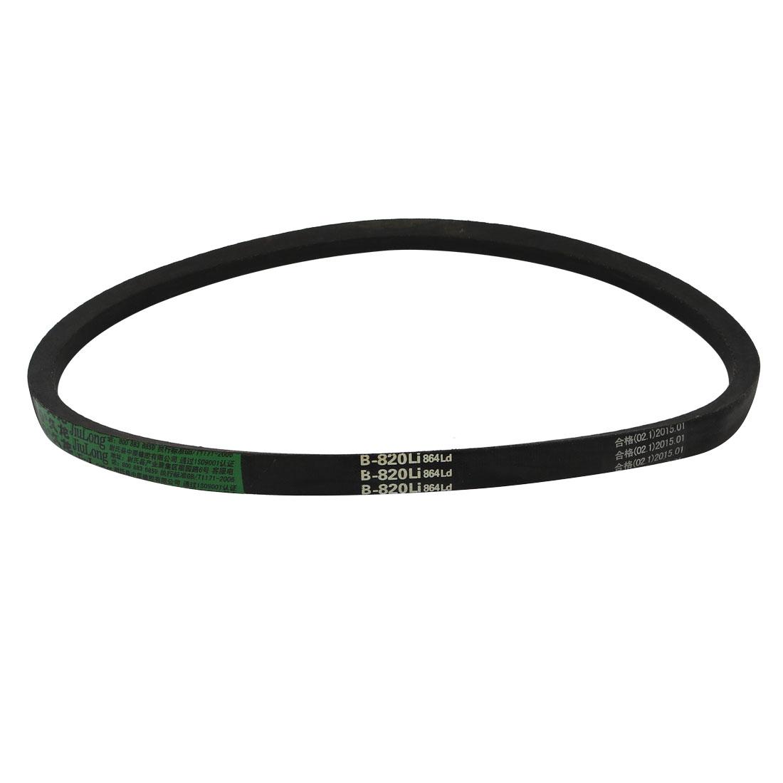 B820 17mm Width 11mm Thickness Rubber Transmission Drive V-Belt
