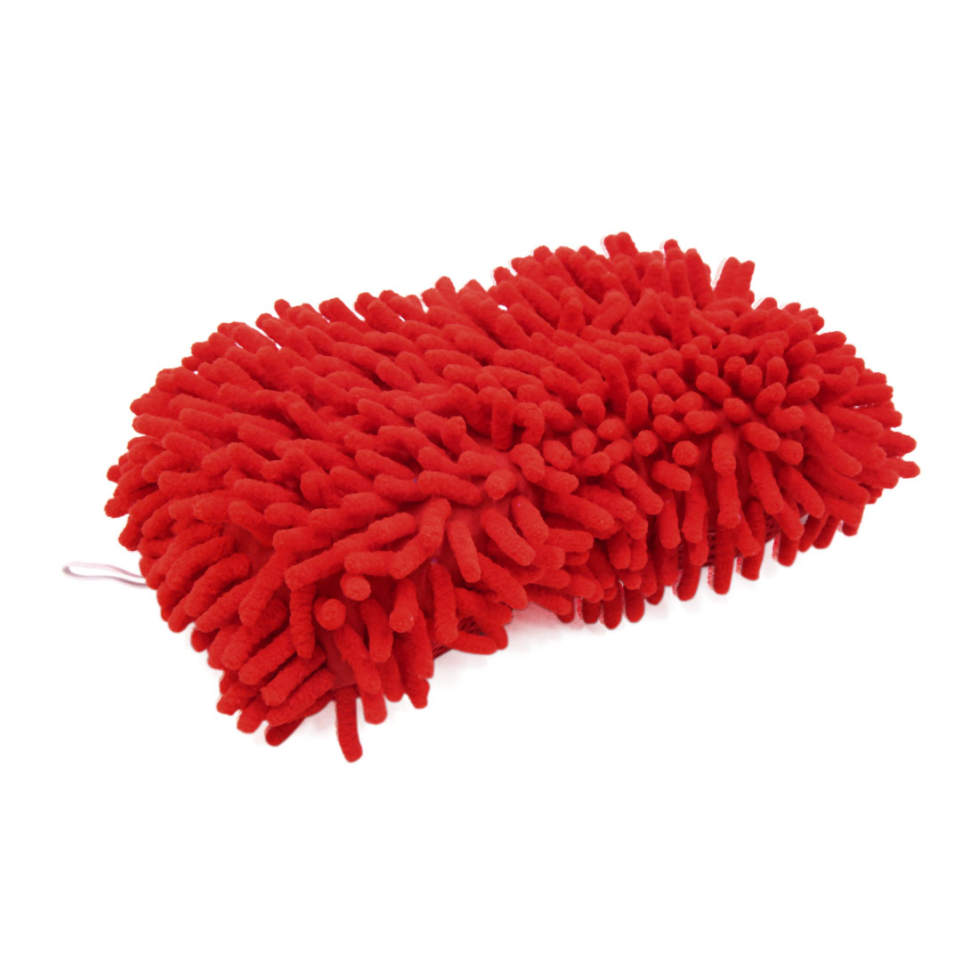 Red Microfiber Sponge Pad Chenille Hand-Strap Car Clean Brush Tool