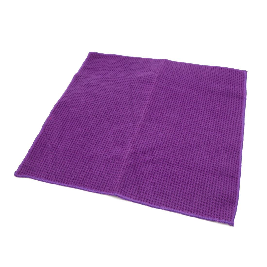 Purple Soft Home Auto Car Care Dry Washing Polishing Duster Cloth Towels