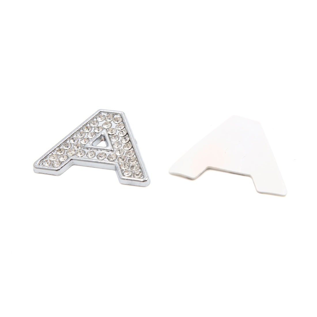 3D Silver Tone Metal Letter A Shaped Car Emblem Badge Sticker Decal Decoration