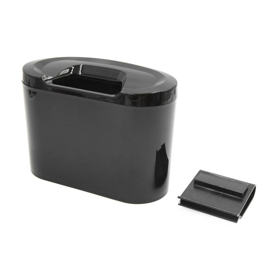 Black Mini Auto Car Garbage Dust Case Holder Box Hanging Trash Bin Rubbish Can