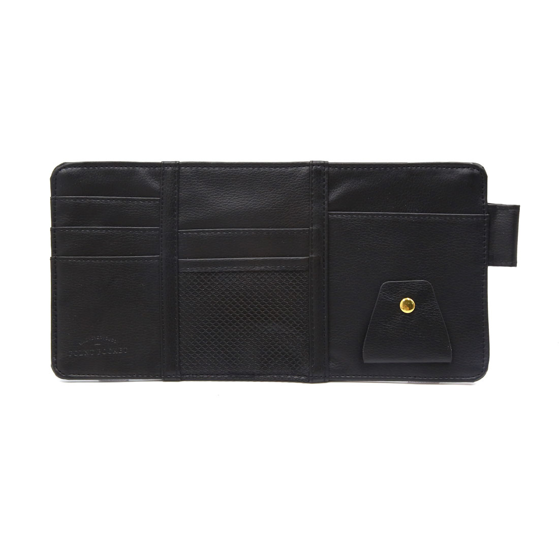 Black Faux Leather Sunglasses Card Phone Car Sun Visor Storage Bag Point Pocket