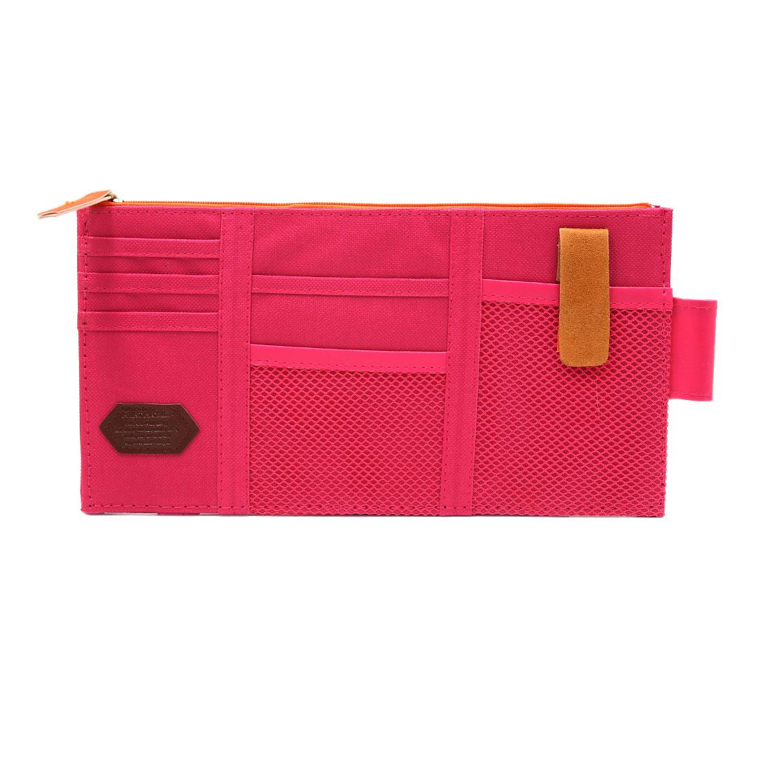 Pink Cloth Sunglasses Card Phone Car Sun Visor Storage Pouch Bag Point Pocket