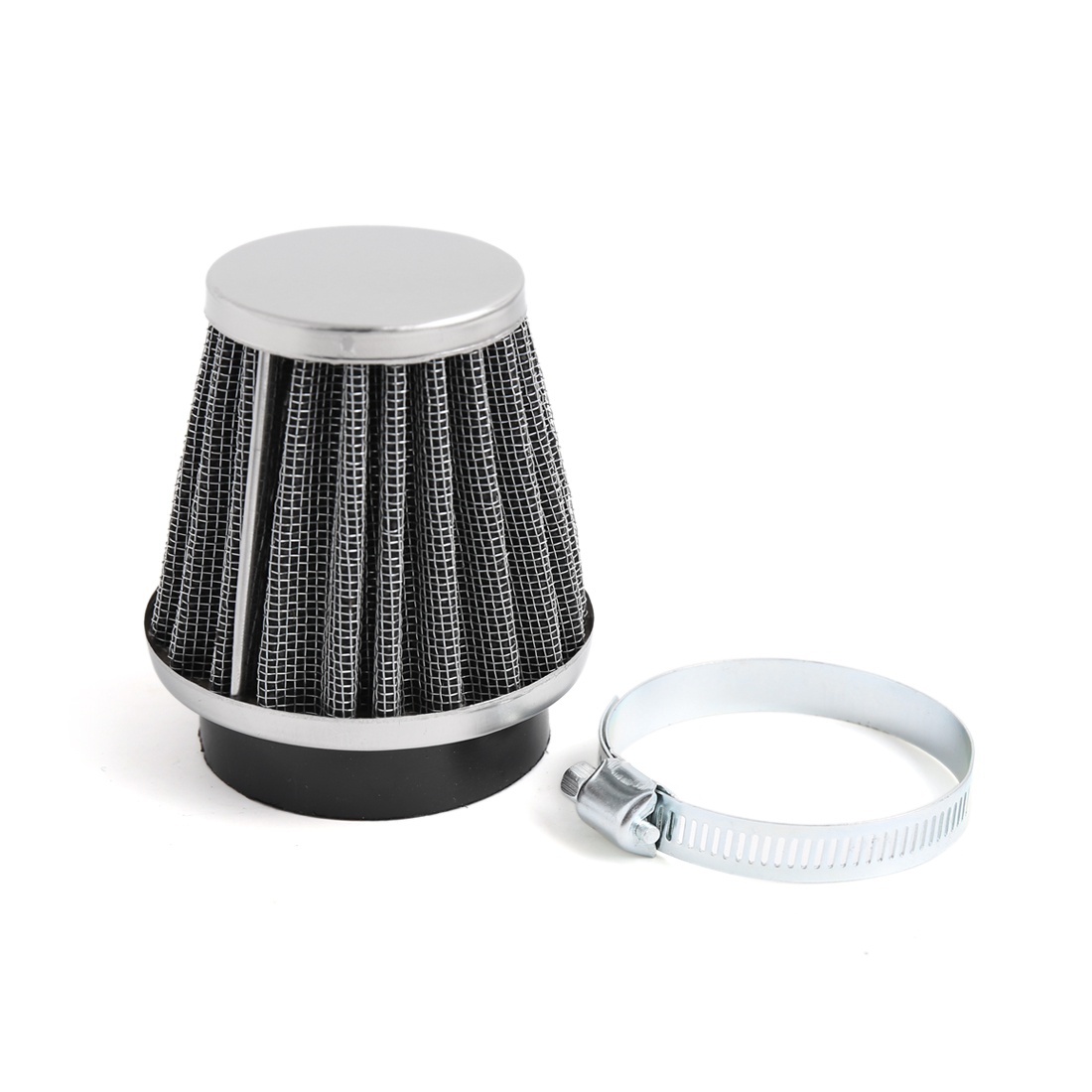Black Universal Tapered 52mm Motorcycle Intake Filter Cafe Racer