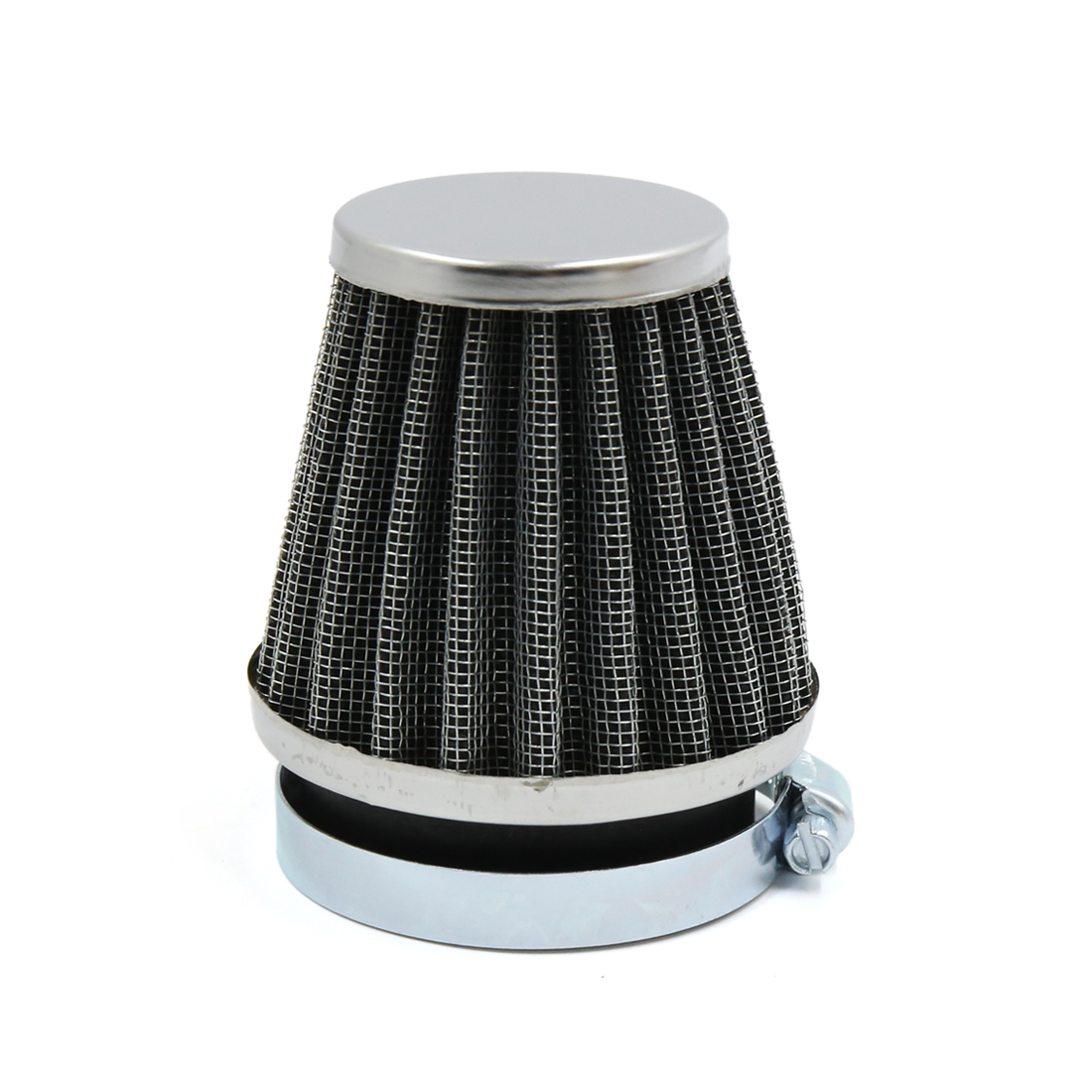 Black Universal Tapered 54mm Motorcycle Intake Filter Cafe Racer