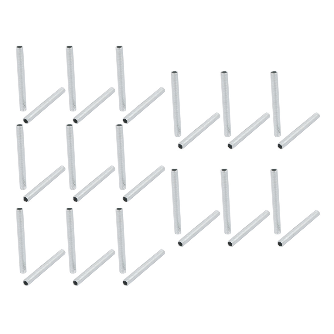30 Pcs Metric M10 1mm Pitch Thread Zinc Plated Pipe Nipple Lamp Parts 95mm Long