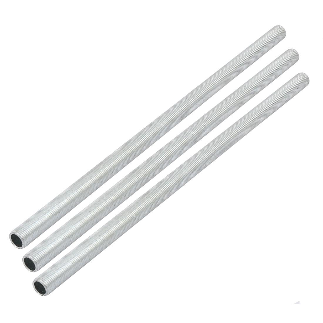 Metric M10 1mm Pitch Thread Zinc Plated Pipe Nipple Lamp Parts 240mm 3pcs