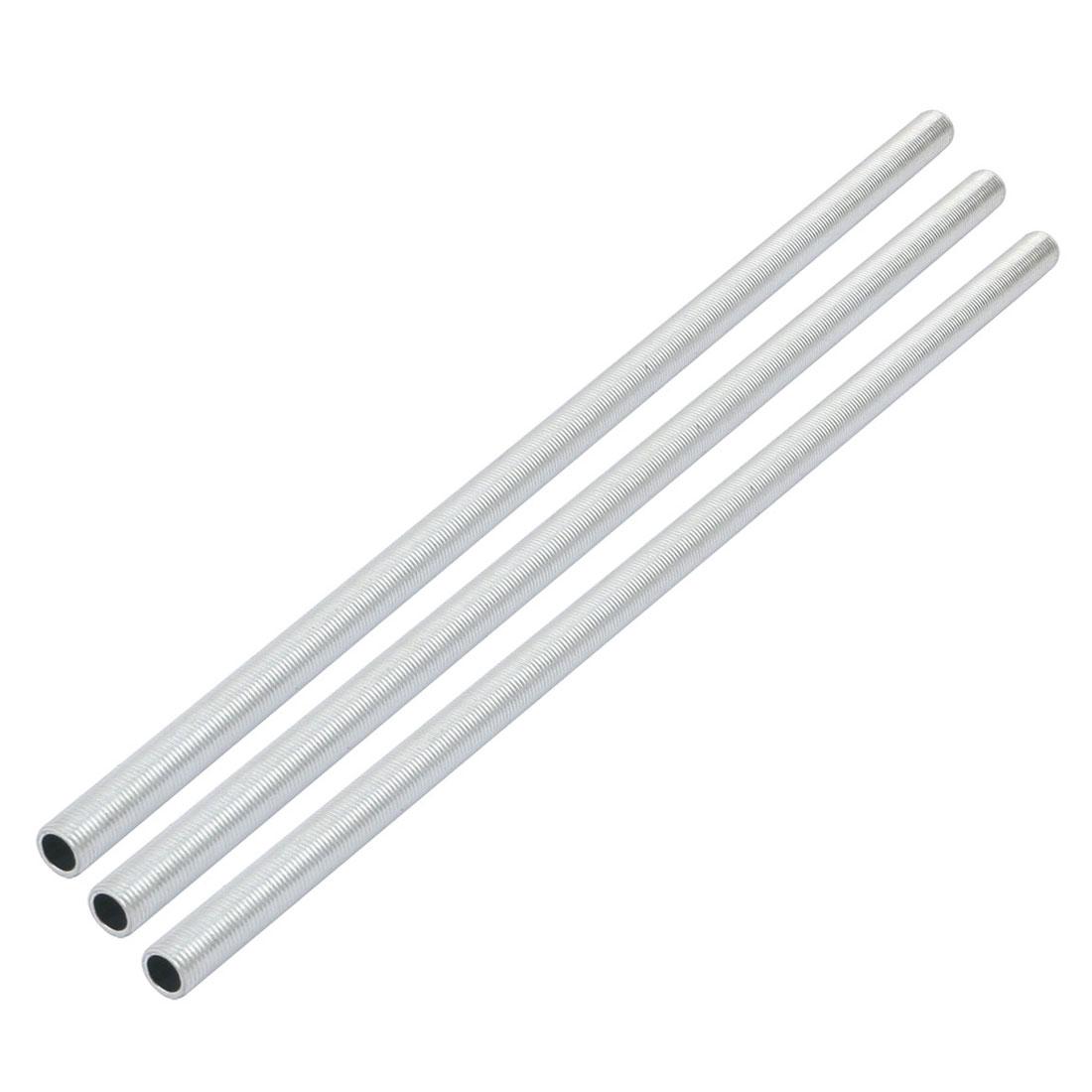 Metric M10 1mm Pitch Thread Zinc Plated Pipe Nipple Lamp Parts 310mm Long 3pcs