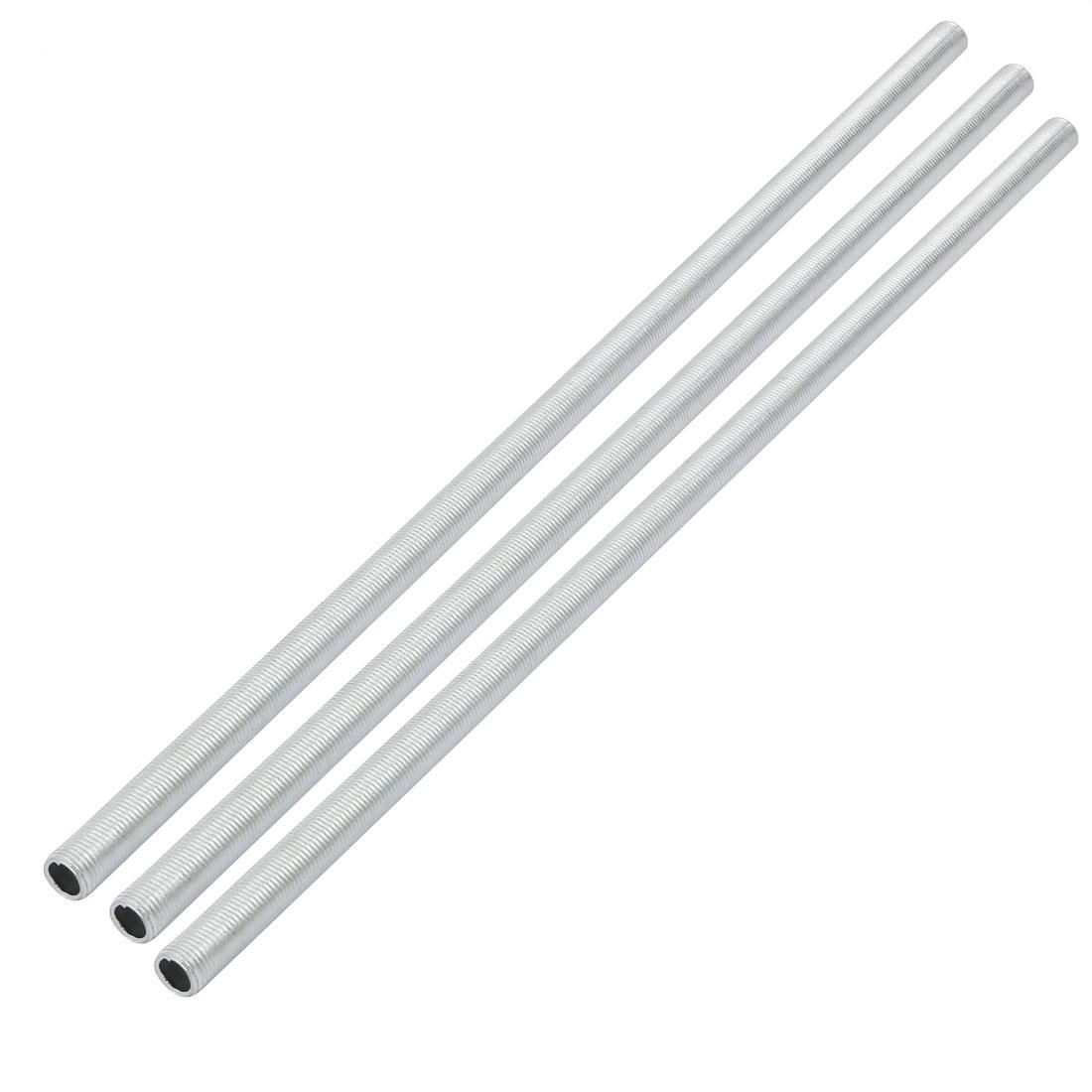 3pcs Metric M10 1mm Pitch Thread Zinc Plated Pipe Nipple Lamp Parts 34cm Long