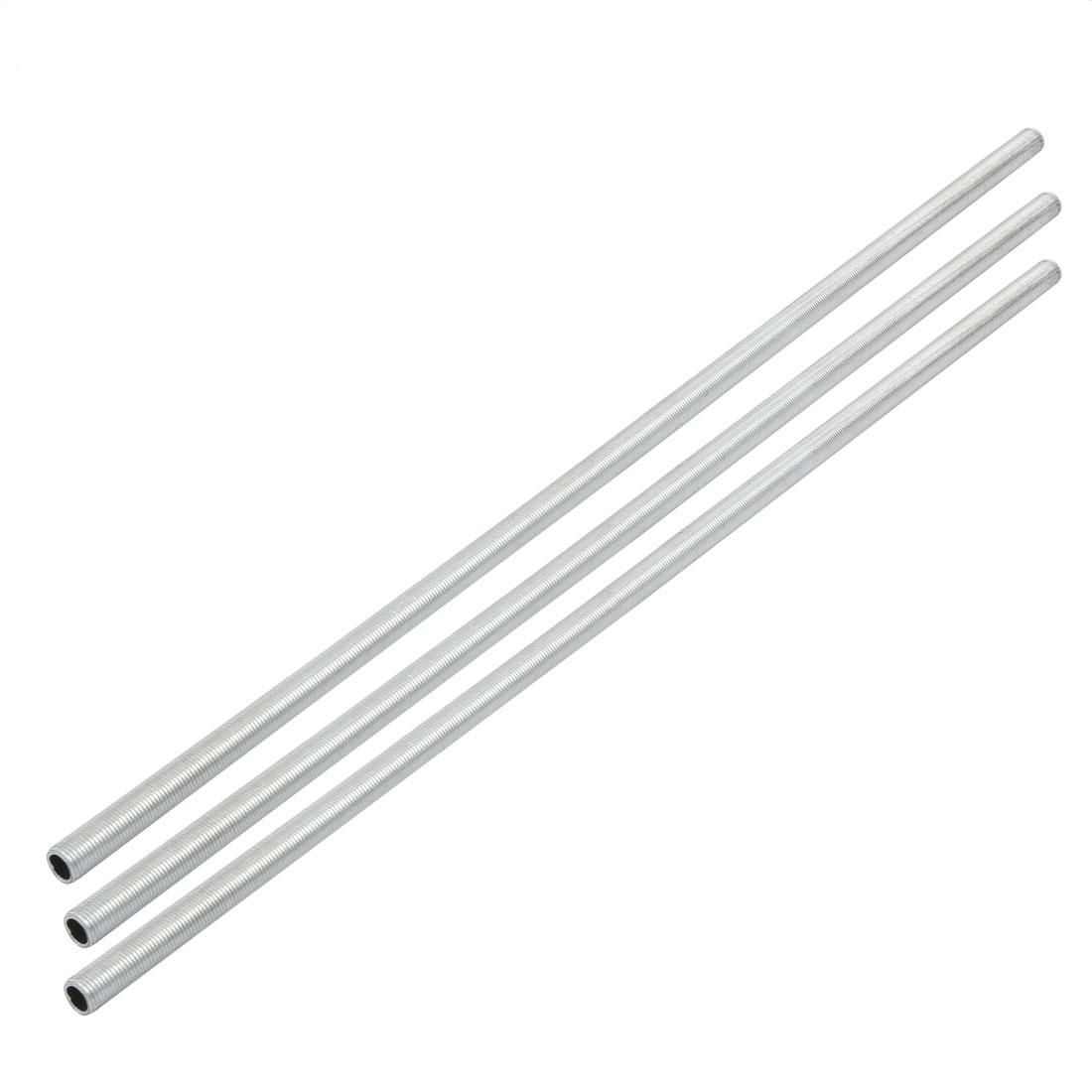 3pcs Metric M10 1mm Pitch Thread Zinc Plated Pipe Nipple Lamp Parts 46cm Long
