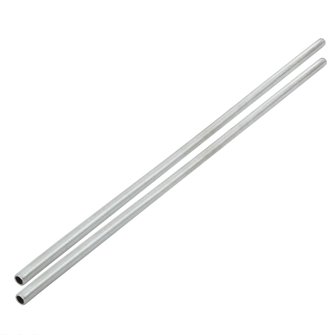 2pcs Metric M10 1mm Pitch Thread Zinc Plated Pipe Nipple Lamp Parts 47cm Long