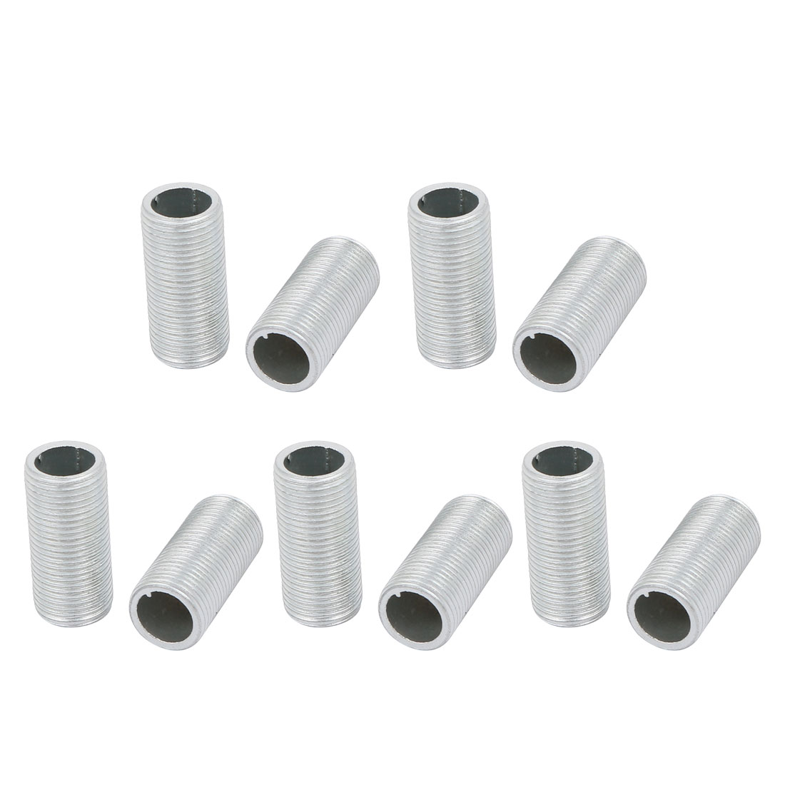 10Pcs M12 Full Threaded Lamp Nipple Pass-Through Pipe Connector 25mm Length