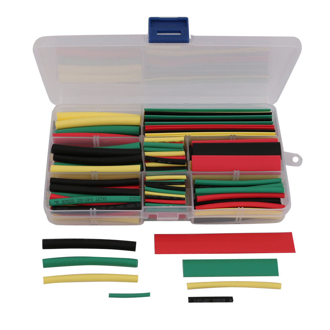 1Set 8 Size 4 Color Polyolefin Heat Shrinkable Tube Wrap Sleeve for Wire Repair
