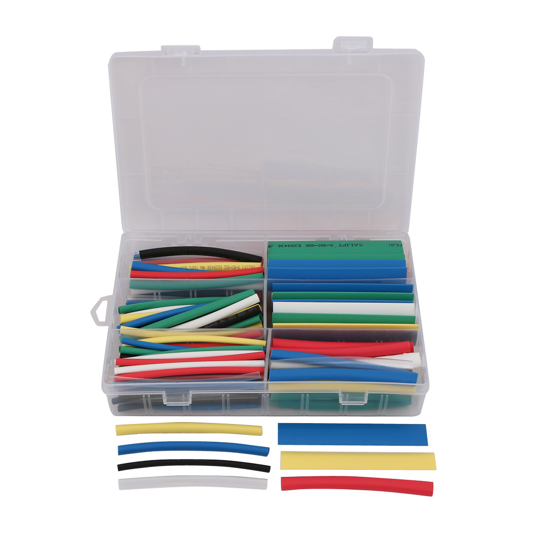 1Set 6 Size 7 Color Polyolefin Heat Shrinkable Tube Wrap Sleeve for Wire Repair