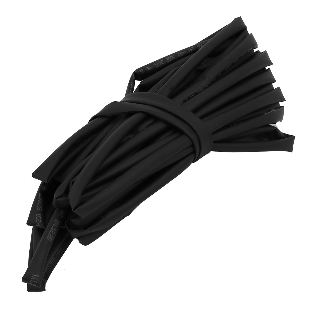 Heat Shrinkable Tube Wire Wrap Cable Sleeve 6 Meters Long 4.5mm Inner Dia Black